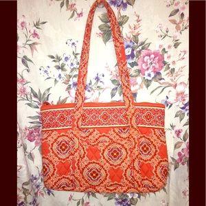 Vera Bradley Tangerine & Turquoise Jewel Pattern